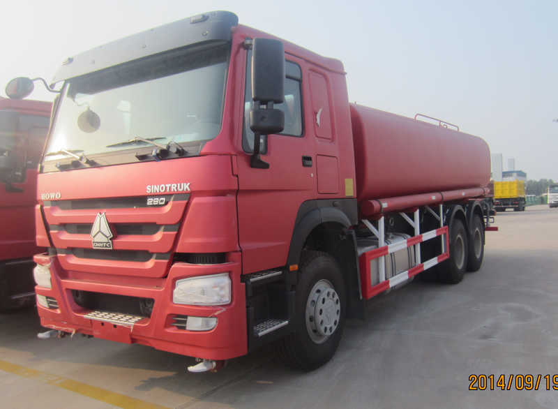 Sinotruk Howo 20 Cubic Meter Water Truck Red