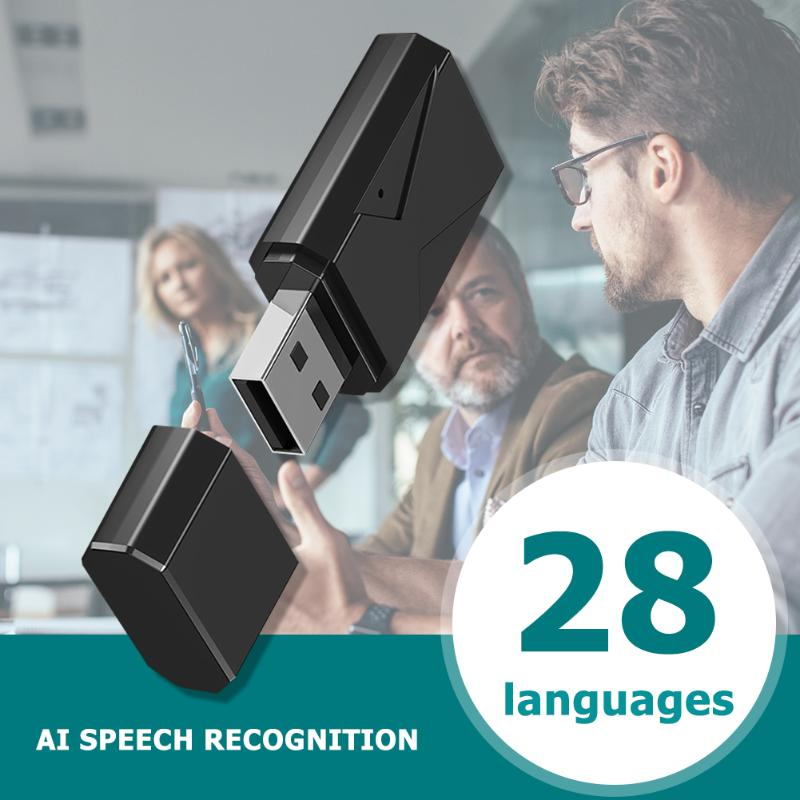 Durable USB AI Smart Voice Translator Speech Recognition Recording to Text Language Translation 28 Language Real-time Supply