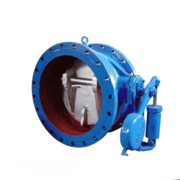 control slow closing counterweight butterfly check valve
