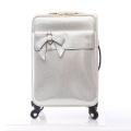 Travel trolley luggage PU suitcase cosmetic bag