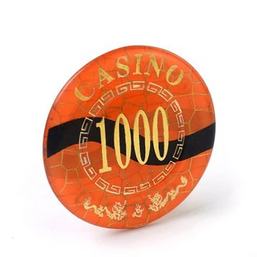 Wholesale Custom Acrylic Round Poker Chip