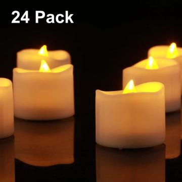 Ivory led pillar candles with remote