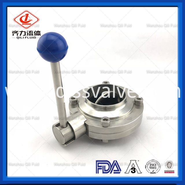 Sanitary Stainless Steel Butterfly Valve 30