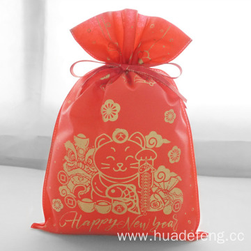 Plutus Cat Red Happy New Year Gift Bag