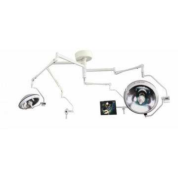 Shadowless halogen lamp with camera system