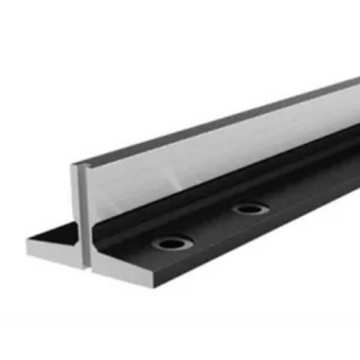 Machined elevator guides rail