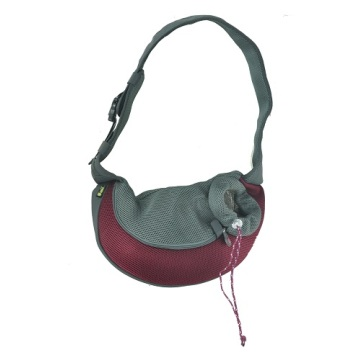 Burgundy PVC and Mesh Pet Sling