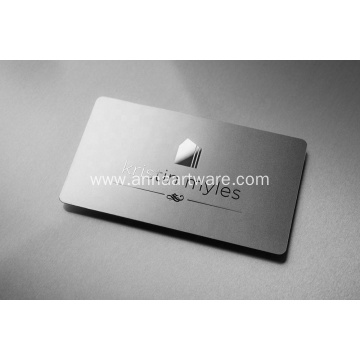 Fashion Metal Shiny Silver Plating Business Card