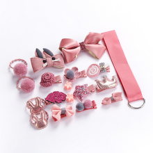 18pcs Set Baby Girl Headband for Children's Turban Darling Bows Kids Headwear Elastic Hair Bands Clips Hairpins Accessories Gift