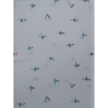 Interest Design Bubble Crepe Printing Fabric