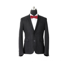 Wedding stretch slim black blazers men suits