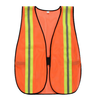 Safety vest closure by elastic