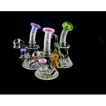 Mini glass water hookahs in lovely design