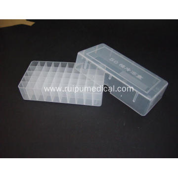 Plastic Cryovial Tube Box 50well