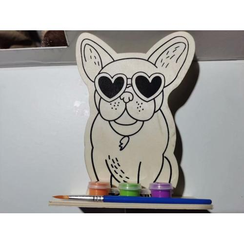 paint your own wooden set dog