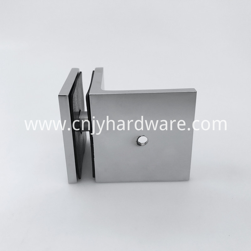 90 Degree Wall Mount Solid Brass Fixed Panel Brackets