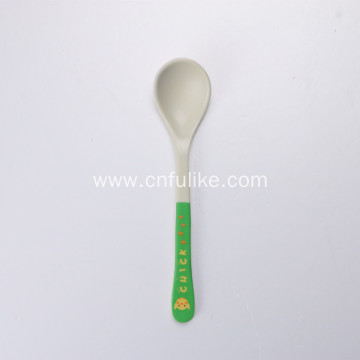 Colorful Bamboo Fiber Baby Ate Spoon