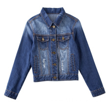 New Flower Embroidery Skinny Women Denim Jacket