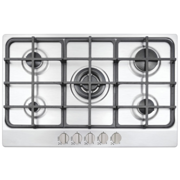 Kitchen with Gas Stove 5 Burner