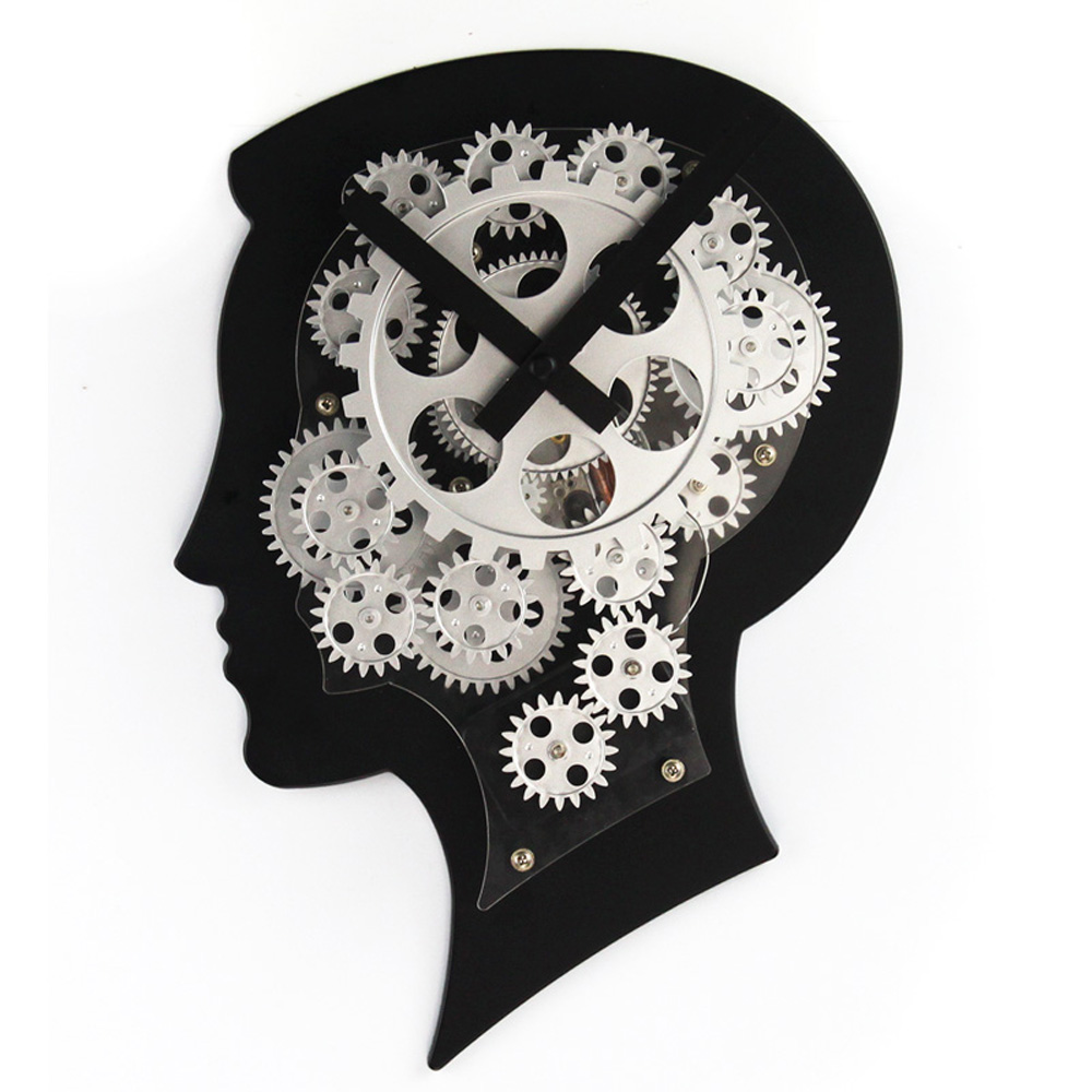 Human Brain Gear Wall Clock