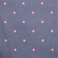 Cotton Poplin Fabric Printed With Small Dots