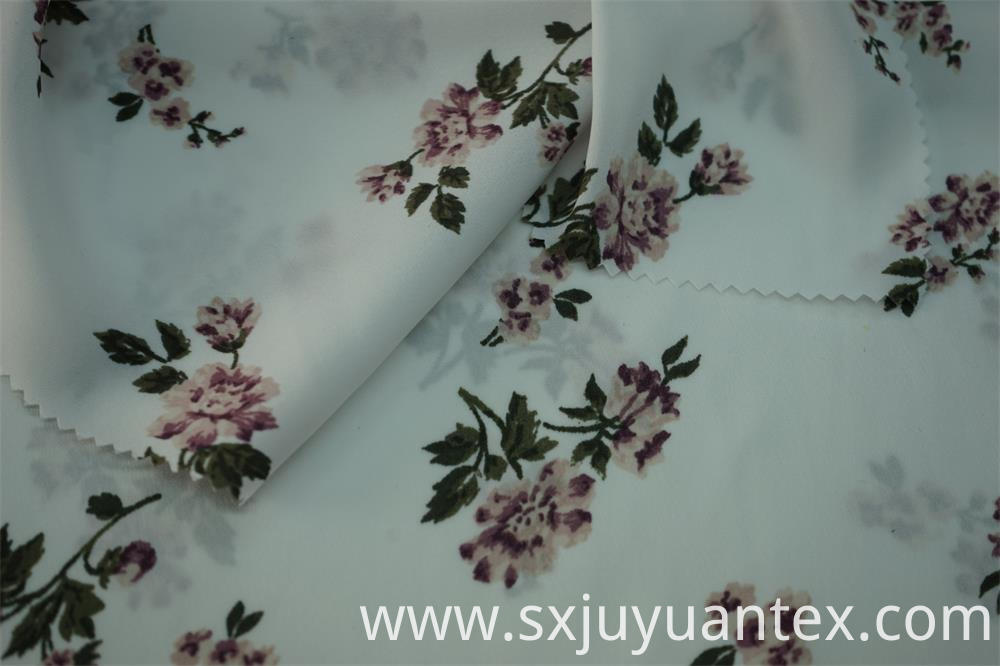 Composite Yarn Hammered Satin Print Fabric