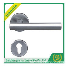 SZD STH-109 Interior Modern Latch Door Handle Round Bar Lever On Rose In 50Mm
