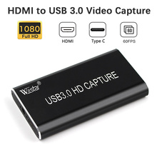 USB Video Capture HDMI to Type-C USB 3.1 1080P HD Video Capture Card for TV PC PS4 Game Live Stream for Windows Linux Os X