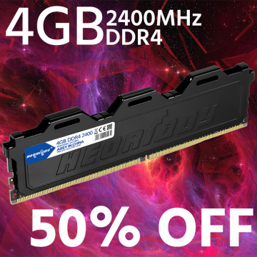 heoriady PC RAM DDR4 4GB 2400 mhz with cooling fin desktop memory compatible 2133MHz 2666MHz 8GB