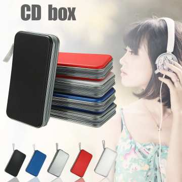 KINCO 80 Disc Carry Box Holder Package Car Storage Bag Case Album DVD CD Organizer Protective Cover Home Map Stripe