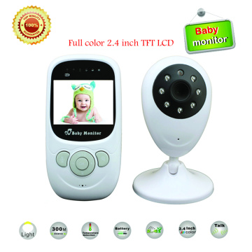 Best 2.4 inch TFT LCD Wireless Digital video Baby Monitor Night Vision IR LED Temperature Monitoring Security Camera 2 Way Talk