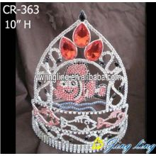 New fashion animal fish special custom pageant crowns