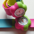 Plum Flower Child Kids Slap Wristband Watches