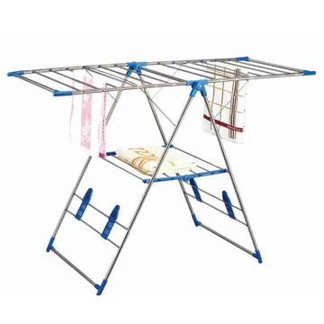 Outdoor stainless steel clothes rack with shoe Stretcher