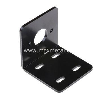 Customized Black Powder Coated Steel Motor Mounting Bracket