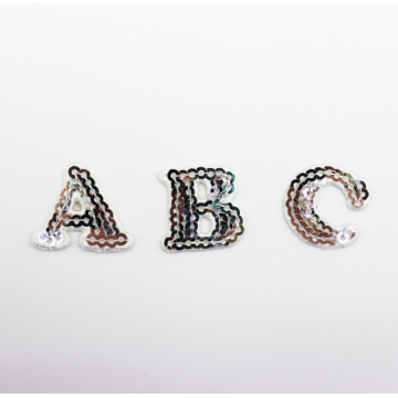 Fashion new letter beads patch embroidery