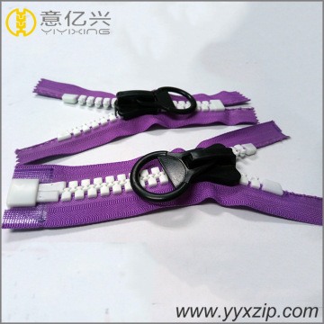 custom fancy NO.15 large big teeth plastic zipper