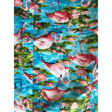 Cotton Printing Hawaiian Shirt Beach Casual