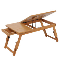 Adjustable Bamboo Rack Shelf Dormitory Bed Lap Desk Two Flowers Book Reading Tray Stand Retractable Laptop Desk Computer Desk