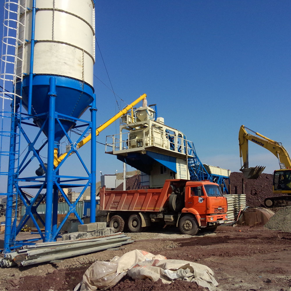 mobile concrete batching plant YHZS40