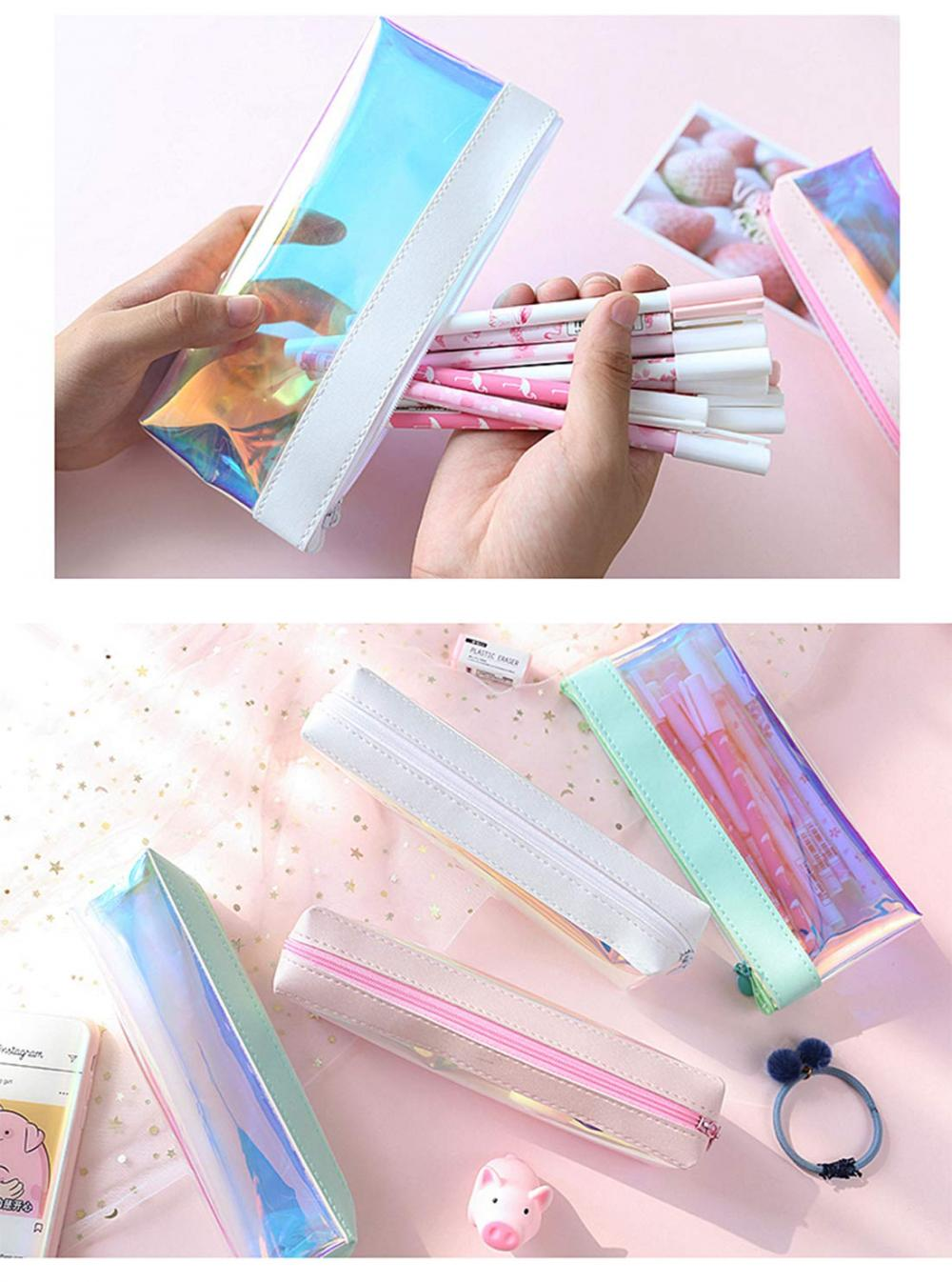 Laser Clear Colorful Pencil Case 3