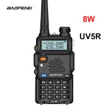 Baofeng UV5R Walkie Talkie 8W Amateur Radio Portable 8W UV-5R VHF/UHF Radio Dual Band Two Way Radio Original Brand Hunting Ham