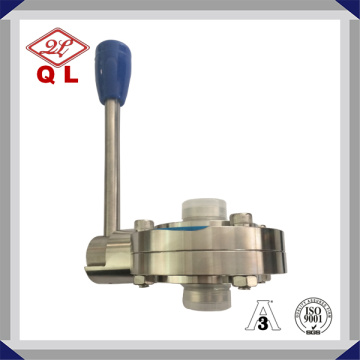 Clamped Stainless Steel DIN Sanitary Butterfly Valve