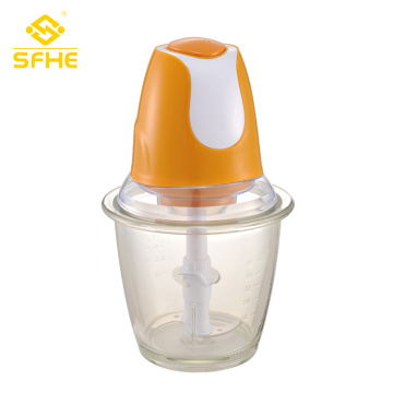 Vegetable Electric Button Food Chopper With Glass Bowl
