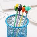 100PCs Cartoon Creative Little Fresh Fruit Gel Pen Plant Black Water Pen Radish Eggplant Corn Cactus Pen