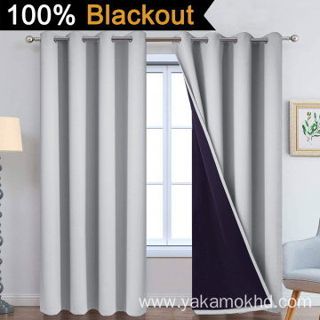 Light Grey 100% Blackout Curtains 84 Inch Long