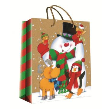 CHRISTMAS SERIES KRAFT GIFTBAG36-0