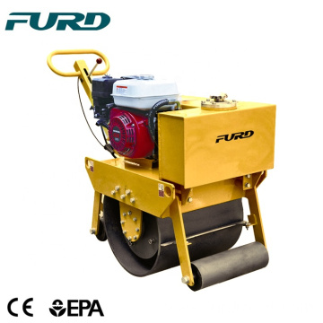 Walk behind mini single double drum compactor road pedestrian vibratory roller  FYL-450