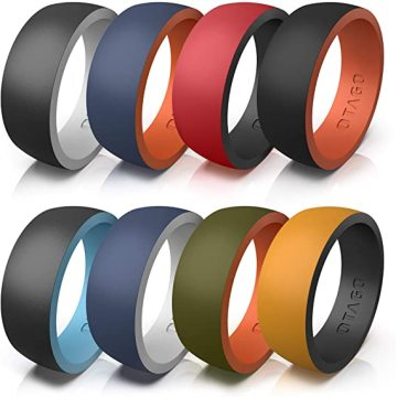 Silicone Rings Wedding Bands for Women Men