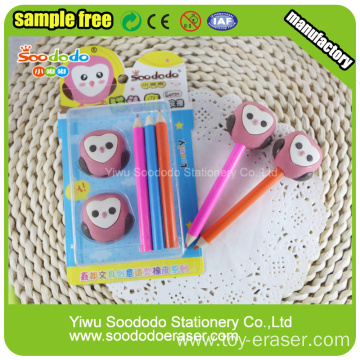 school stationery pencil cap eraser sets